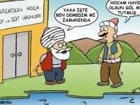 Nasrettin Hoca Ya Tutarsa Karikatürü ve Fıkrası