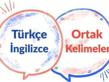 Türkçe ve ingilizce Ortak Kelimeler