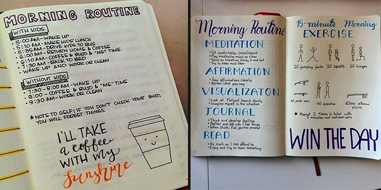 Planlı Yaşamayı Sevenlere En Yaratıcı Bullet Journal Fikirleri